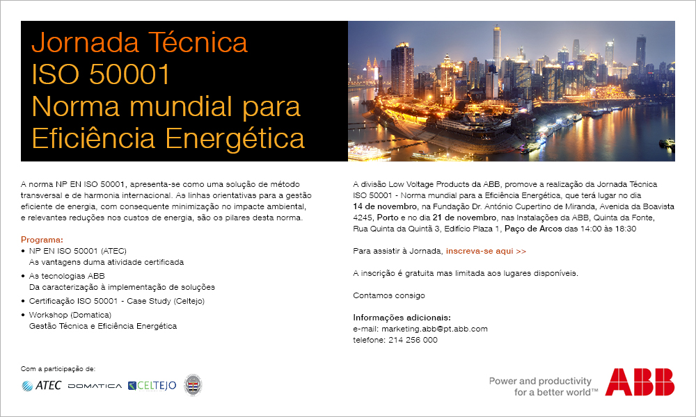 Convite JornadaISO50001 2